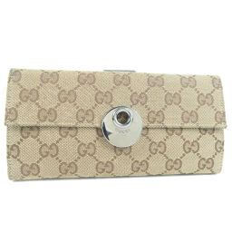 GUCCI Gucci 120931 GG canvas brown ladies wallet [used]
