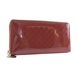 GUCCI Gucci round fastener micro GG 308260 enamel red ladies wallet [used] A rank