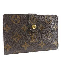 LOUIS VUITTON Louis Vuitton Portomonet Vievienois Gamaguchi M61663 Monogram Canvas Tea MI1001 Engraved Ladies Bi-Fold Wallet [Used]