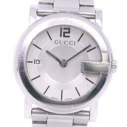 GUCCI グッチ Gラウンド 101J ステンレススチール クオーツ アナログ表示 ユニセックス 白文字盤 腕時計【中古】