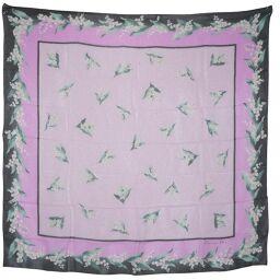 Dior Christian Dior Floral Silk Pink / Black Women's Scarf [Used] A Rank
