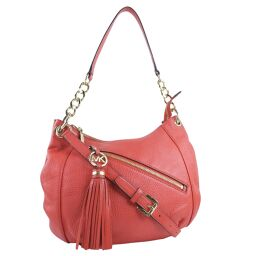 Michael Kors Michael Kors 2WAY Shoulder Leather Red Ladies Handbag [Used] A rank