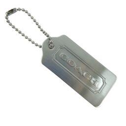 COACH Coach Plate Charm Silver Unisex Keychain [Used] A-Rank