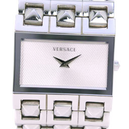 VERSACE Versace Cleopatra 75Q Stainless Steel Quartz Ladies Silver Dial Watch [Used]