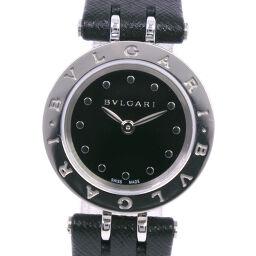 BVLGARI Bzero1 BZ23S Stainless Steel x Leather Black Quartz Analog Display Ladies Black Dial Watch [Used] A-Rank