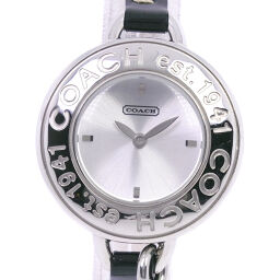 COACH Coach CA.33.7.14.465 Stainless Steel x Leather Quartz Analog Display Ladies Silver Dial Watch [Used] A-Rank