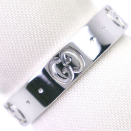 GUCCI Gucci Icon K18 White Gold No. 8.5 Ladies Ring / Ring [Used] A rank