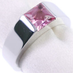 CARTIER Cartier Tank K18 White Gold x Pink Tourmaline No. 10 Pink Ladies Ring / Ring [Used] A + Rank