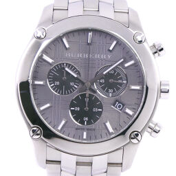 BURBERRY BU1850 Stainless Steel Quartz Chronograph Men's Gray Dial Watch [Used] A-Rank