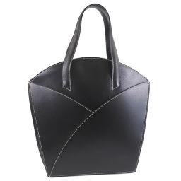 HERMES Hermes Handbag Box Calf Black □ C Engraved Ladies Handbag [Used]