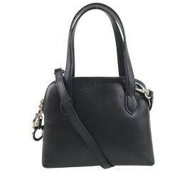 Salvatore Ferragamo Salvatore Ferragamo 2WAY Shoulder Gancio Calf Black Ladies Handbag [Used] A rank