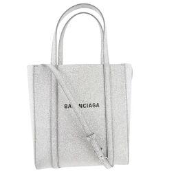 BALENCIAGA Balenciaga Everyday Tote XXS 2WAY Shoulder 551815 Leather x Lame Silver Ladies Handbag [Used] A + Rank