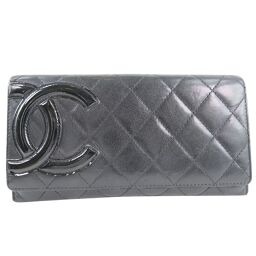 CHANEL Cambon Lambskin Ladies Wallet [Used]