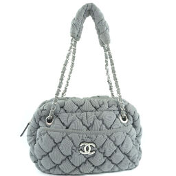 CHANEL Matrasse Nylon Gray Women's Shoulder Bag [Used] A-Rank