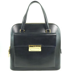 Salvatore Ferragamo Salvatore Ferragamo Calf Black Ladies Handbag [Used]