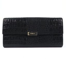 Furla Furla leather black ladies wallet [used]