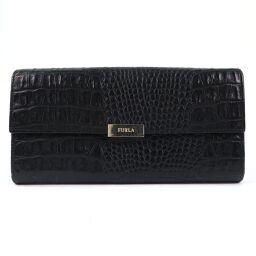 Furla Furla leather black ladies wallet [used]