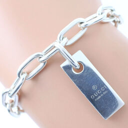 GUCCI Gucci Tag Plate Silver 925 Unisex Bracelet [Used]