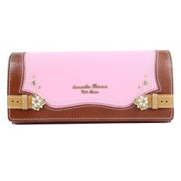 Samantha Thavasa Leather Pink Women's Wallet [Used] A + Rank