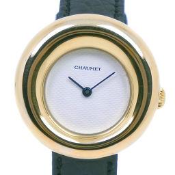 Chaumet ショーメ アノー ステンレススチール×K18イエローゴールド クオーツ レディース 白文字盤 腕時計【中古】A-ランク