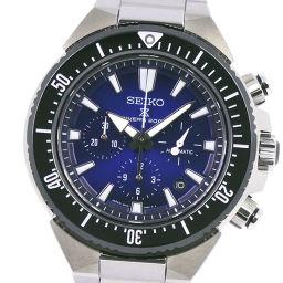 SEIKO セイコー プロスペック ライジングウェイブ SBEC003 ステンレススチール 自動巻き メンズ 青文字盤 腕時計【中古】A+ランク
