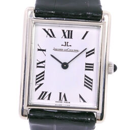 JAEGER-LECOULTRE Jaeger-LeCoultre K18 White Gold x Leather Manual winding Analog display Men's white dial watch [Used]