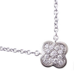 Van Cleef & Arpels Van Cleef & Arpels Pure Alhambra K18 White Gold x Diamond Ladies Necklace [Used] SA rank
