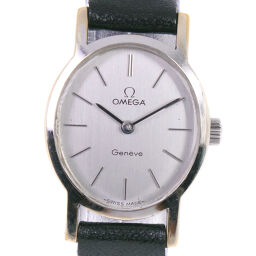 OMEGA Omega Geneva cal.620 Stainless Steel x Leather Manual Winding Ladies Silver Dial Watch [Used]