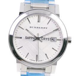 <html>    <body>   BURBERRY バーバリー BU9000 ステンレススチール クオーツ ユニセックス シルバー文字盤 腕時計【中古】Sランク        </body> </html>