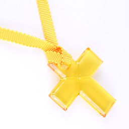 Baccarat Baccarat Cross Yellow Women's Necklace [Pre] SA rank