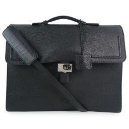 LOEWE Loewe Calf Black Men's Business Bag [Used] A rank