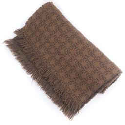 FENDI FENDI Wool Brown Unisex Muffler [Used]