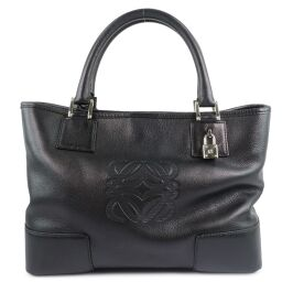 LOEWE Loewe Amazona 30 Calf Black Ladies Handbag [Used] A rank