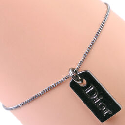 Dior Christian Dior Tag Plate Black Ladies Bracelet [Used]
