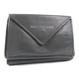 BALENCIAGA バレンシアガ 391446 カーフ グレー ユニセックス 二つ折り財布【中古】
