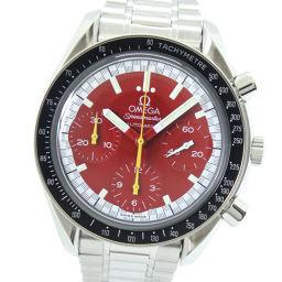 OMEGA オメガ スピードマスター シューマッハモデル 3510.61 ステンレススチール 自動巻き メンズ 赤文字盤 腕時計【中古】A-ランク