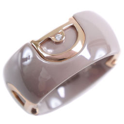 Damiani D.ICON D.Icon Ceramic x K18 Pink Gold No.14.5 Ladies Ring / Ring [Used] A + Rank