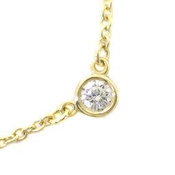 TIFFANY&Co. ティファニー バイザヤード K18イエローゴールド×ダイヤモンド レディース ネックレス【中古】SAランク