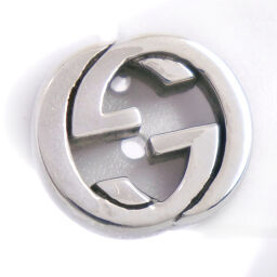 GUCCI Gucci Interlocking G * Only one side Silver 925 Unisex Earrings [Used] A-Rank