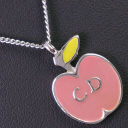 Dior Christian Dior apple motif pink ladies necklace [used]
