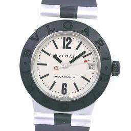BVLGARI ブルガリ アルミニウム AL32A ラバー×アルミニウム ブラック クオーツ ボーイズ シルバー文字盤 腕時計【中古】Aランク