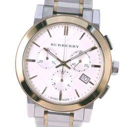 BURBERRY バーバリー クロノグラフ BU9751 ステンレススチール クオーツ メンズ シルバー文字盤 腕時計【中古】