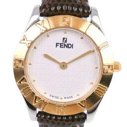 <html>    <body>   FENDI フェンディ オロロジ 024-2000L-064 ステンレススチール ゴールド クオーツ レディース 白文字盤 腕時計【中古】        </body> </html>