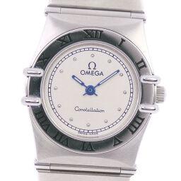OMEGA オメガ コンステレーション ミニ 1570.30 ステンレススチール クオーツ レディース シルバー文字盤 腕時計【中古】A-ランク