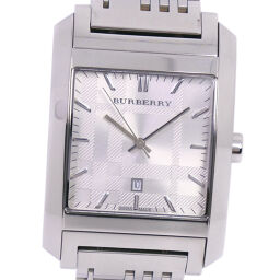 BURBERRY BU1567 Stainless Steel Quartz Men's Silver Dial Watch [Used]