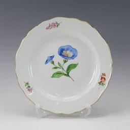 Meissen Meissen Basic Flower Plate 18cm 030110/00501 / motif No.06 Bandwinde (blue) Ceramic Tableware [Used] A + Rank