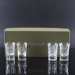 Christofle Petit Glass / Shot Glass x 4 Customers 4.4 x H6.9cm Crystal Clear Tableware [Used] S Rank