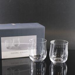 Georg Jensen Glass / Tumbler S x 2 3407004 Glass Clear Tableware [Used] S Rank