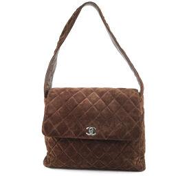 CHANEL Chanel Suede Brown Women's Shoulder Bag [Used]