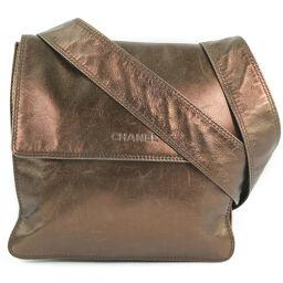 CHANEL Calf Bronze Women's Shoulder Bag [Used]